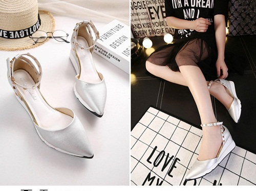 SH8801 IDR.235.000 MATERIAL PU-HEEL-5CM COLOR SILVER SIZE 35,36,37,38,39