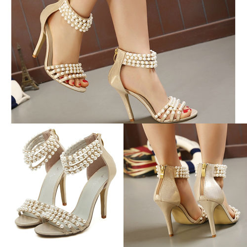 SH8815 IDR.269.000 MATERIAL PU HEEL 11CM COLOR GOLD SIZE 35,36,37,38