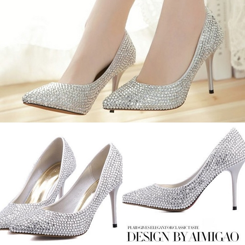 SH8927 IDR.372.OOO MATERIAL PU HEEL 10CM COLOR SILVER SIZE 36,37,38