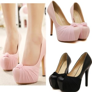 SH8931 IDR.22O.OOO MATERIAL CLOTH HEEL 5CM,13.5CM COLOR PINK,BLACK SIZE 36,37,38,39 (2)