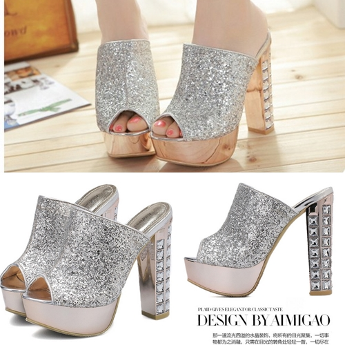 SH9186 IDR.283.OOO MATERIAL PU HEEL 4CM,14CM COLOR SILVER SIZE 36,37,38,39