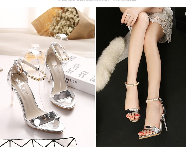 SH9666 IDR.210.000 MATERIAL PU-HEEL-9.5CM COLOR SILVER SIZE 35,36,37,38,39