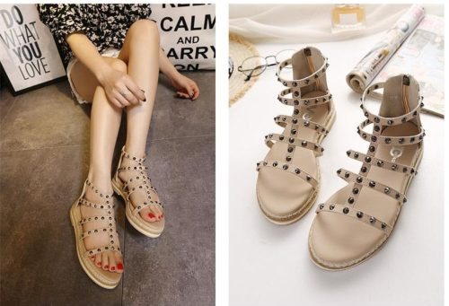 SH9981M IDR.230.000 MATERIAL PU-HEEL-3CM COLOR APRICOT SIZE 36