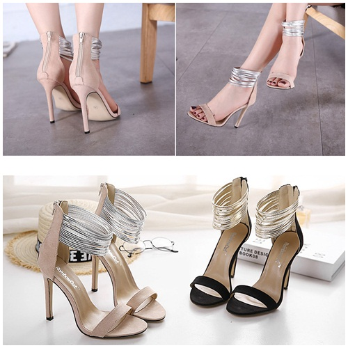 SH9987 IDR.219.000 MATERIAL SUEDE-HEEL-11CM COLOR APRICOT SIZE 36,37,38,39