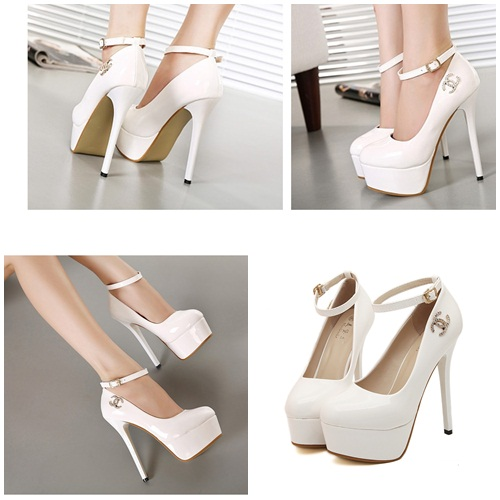SH9998 IDR.230.000 MATERIAL PU HEEL 5CM,14CM COLOR WHITE SIZE 36,37,38,39