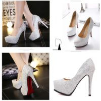 SHH10162 MATERIAL PU HEEL 12.5CM COLOR SILVER SIZE 36
