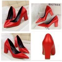 SHH10695 MATERIAL PU HEEL 7CM COLOR RED SIZE 35