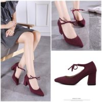 SHH11285 MATERIAL PU HEEL 7.5CM COLOR RED SIZE 35