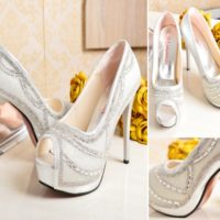 SHH1226  MATERIAL PU HEEL 12CM COLOR SILVER SIZE 35