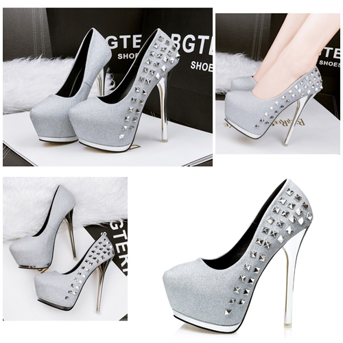 SHH1992 IDR.255.000 MATERIAL PU HEEL 14.5CM COLOR SILVER SIZE 35,36,37,38,39