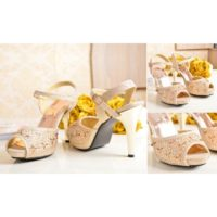 SHH2180  MATERIAL PU HEEL 10.5CM COLOR GOLD SIZE 35