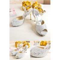 SHH2180  MATERIAL PU HEEL 10.5CM COLOR SILVER SIZE 36