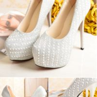 SHH2396 MATERIAL PU HEEL 14CM COLOR SILVER SIZE 34