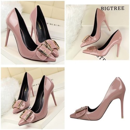 SHH258618 MATERIAL PU HEEL 10CM COLOR PURPLE SIZE 35