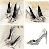 SHH258618 MATERIAL PU HEEL 10CM COLOR SILVER SIZE 35