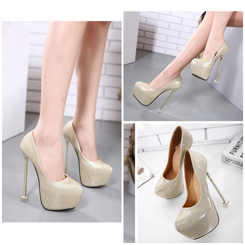 SHH3166 IDR.235.000 MATERIAL PU HEEL 16.5CM COLOR GOLD SIZE 35,36,37,38,39