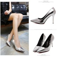 SHH35375 MATERIAL PU HEEL 8.5CM COLOR SILVER SIZE 35