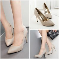 SHH388922 MATERIAL PU HEEL 10CM COLOR GOLD SIZE 35