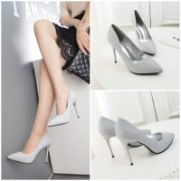 SHH388922 MATERIAL PU HEEL 10CM COLOR SILVER SIZE 35
