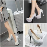 SHH5281 MATERIAL PU HEEL 14CM COLOR SILVER SIZE 35