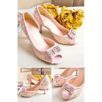 SHH634269 MATERIAL PU HEEL 9CM COLOR PINK SIZE 35