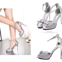 SHH80992 MATERIAL PU HEEL 11.5CM COLOR SILVER SIZE 35