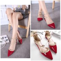 SHS11065 MATERIAL PU-HEEL-1CM COLOR RED SIZE 35