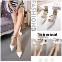 SHS11065 MATERIAL PU-HEEL-1CM COLOR WHITE SIZE 35