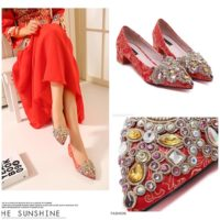 SHS1962 MATERIAL PU COLOR RED SIZE 35