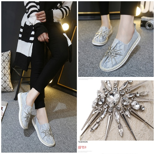SHS308213  MATERIAL PU COLOR GRAY SIZE 36