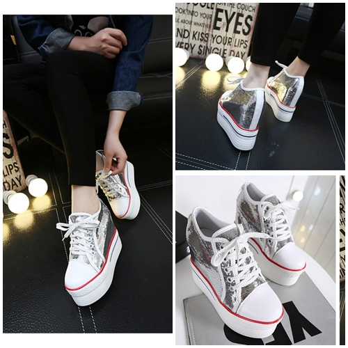 SHS313 IDR.230.000 MATERIAL CANVAS COLOR SILVER SIZE 35,36,37,38,39