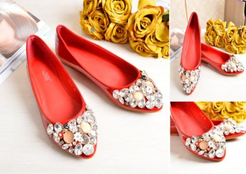 SHS3681 MATERIAL PU COLOR RED SIZE 35