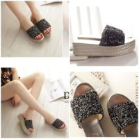 SHW5285 MATERIAL PU HEEL 5CM COLOR BLACK SIZE 35