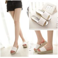 SHW5285 MATERIAL PU HEEL 5CM COLOR WHITE SIZE 35