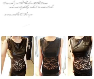 T1946 IDR.95.OOO MATERIAL LACE+PU-LENGTH-55CM-BUST-86CM WEIGHT 230GR COLOR ASPHOTO