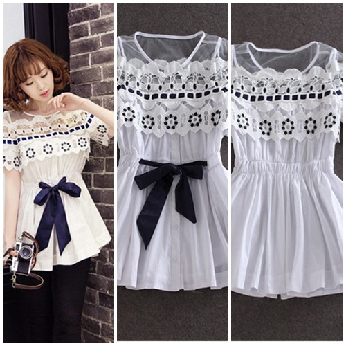 T22210 IDR.135.000 MATERIAL COTTON-LENGTH69CM,BUST90CM WEIGHT 230GR COLOR WHITE