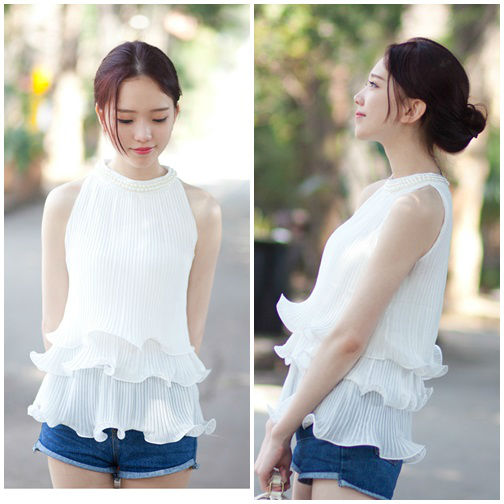 T36158 IDR.133.000 MATERIAL CHIFFON LENGTH 60CM BUST 75-96CM WEIGHT 250GR COLOR WHITE