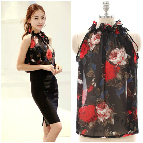 T37950 IDR.105.000 MATERIAL CHIFFON LENGTH57CM-BUST112CM WEIGHT 150GR COLOR BLACK