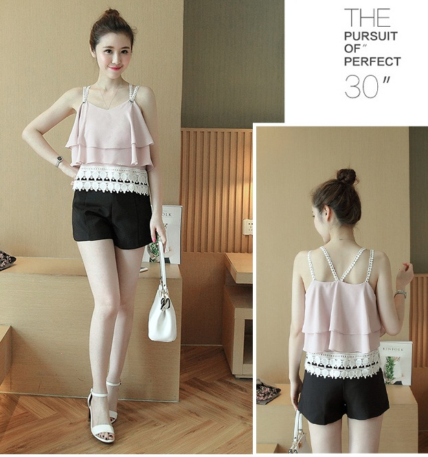 T55355 IDR.98.000 MATERIAL CHIFFON LENGTH53CM BUST98CM WEIGHT 200GR COLOR PINK