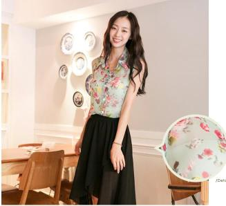 T6802 IDR.97.OOO MATERIAL CHIFFON-LENGTH-69CM-BUST-92CM WEIGHT 180GR COLOR GREEN