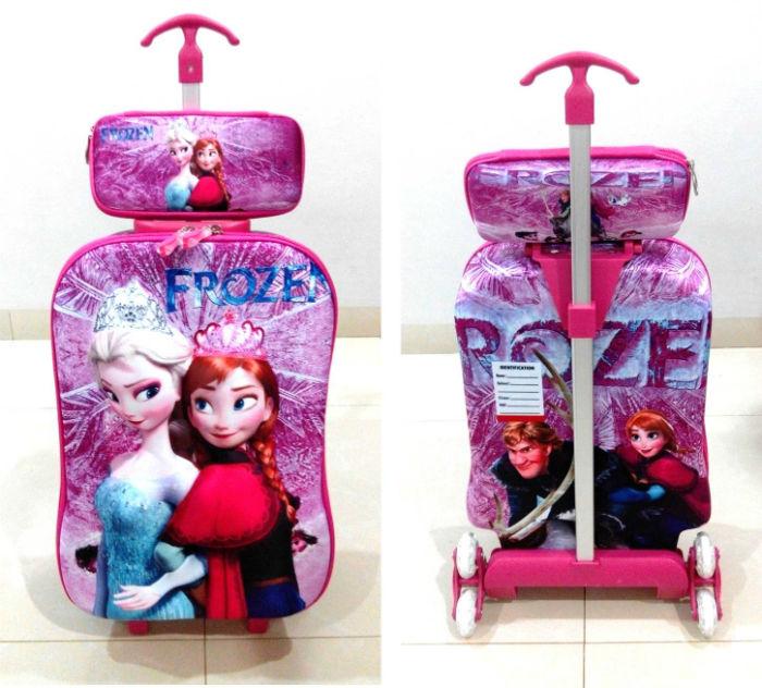TA005 IDR 220.000 Tas Troli 3D Anak Sekolah Frozen 2in1 Size 32x12x40cm