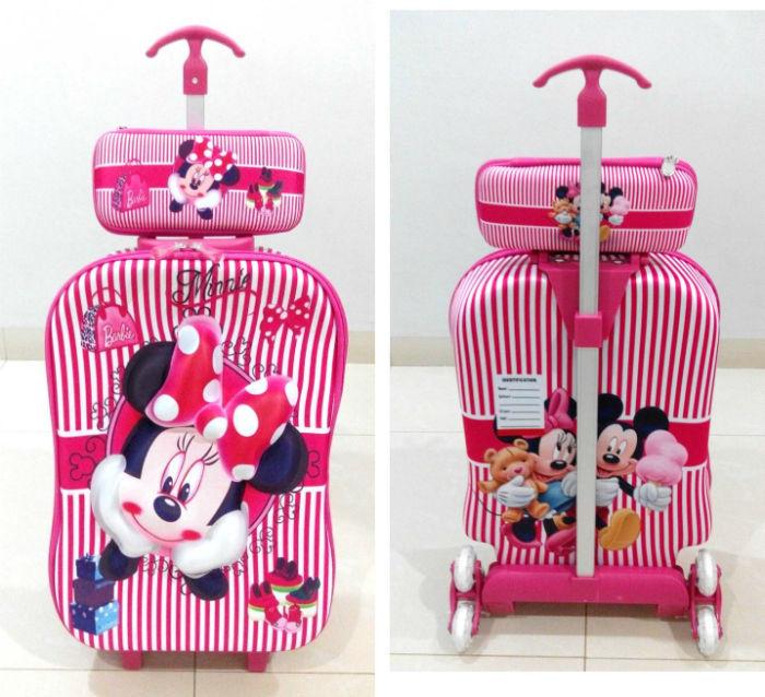 TA011 IDR 220.000 Tas Troli 3D Anak Sekolah Minnie Mouse 2in1 Size 32x12x40cm