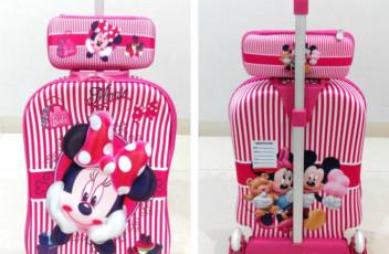 TA011 Tas Troli 3D Anak Sekolah Minnie Mouse 2in1