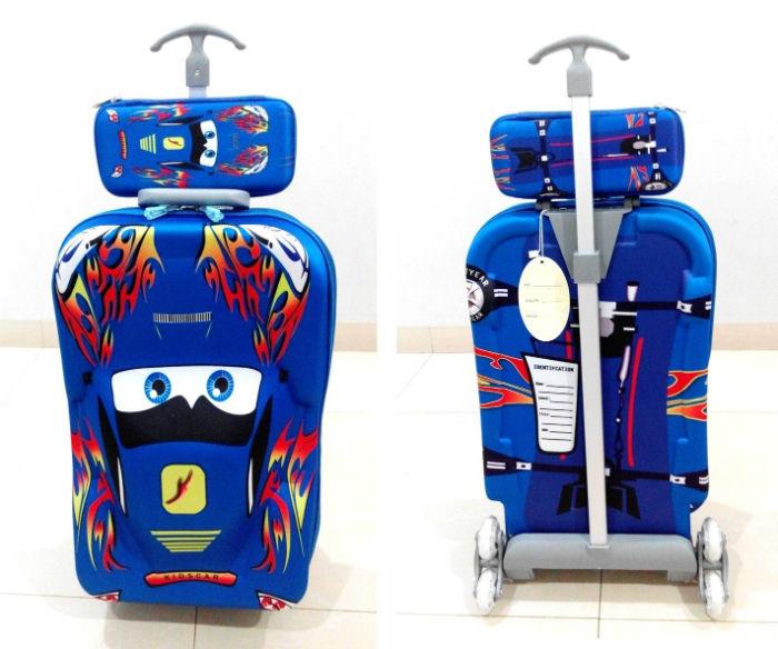 TA012 Tas Trolley 3D Anak Sekolah Cars 2in1 Size 32x12x40cm