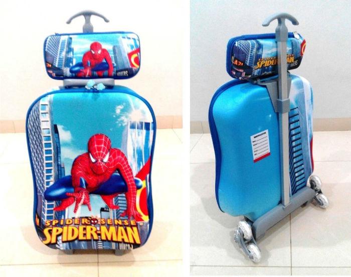 TA016 IDR 220.000 Tas Troli 3D Anak Sekolah Spiderman New 2in1 Size 32x12x40cm