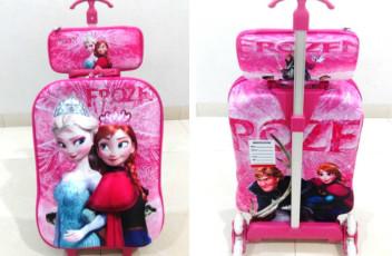 TA018 IDR 220.000 Tas Troli 3D Anak Sekolah Frozen Elsa Size 32x12x40cm