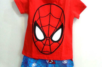 AB008 Baju Set Anak Spiderman