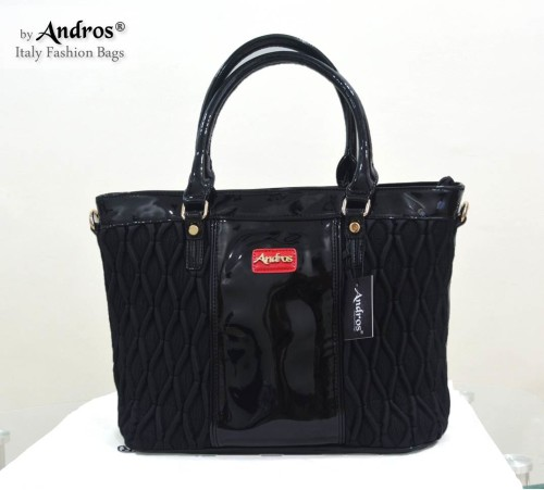 Tas Branded ANDROS - AB0268 IDR. 255.000 BAHAN PU SIZE L35XH28XW15CM WEIGHT 1200GR COLOR BLACK
