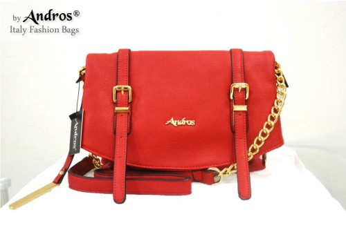 Tas Branded ANDROS - AB7944 IDR 230.000 MATERIAL PU SIZE L27XH21XW10CM WEIGHT 800GR COLOR RED