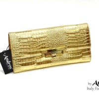 AB9295 Grosir Tas Branded - IDR 178.000 MATERIAL PU SIZE L23XH11XW4CM WEIGHT 350GR COLOR GOLD